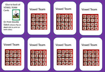 Vowel Team- MATCHING GAME  Steps to Literacy Examples