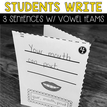 Mini-Books: Vowel Teams