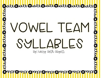 Vowel Team Mini Lesson for Small Group or Whole Group