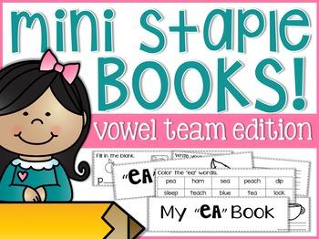 Vowel Team Mini Staple Books