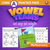 Vowel Team Multisensory Word Work Packet for Long A