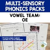 Vowel Team OE    Orton-Gillingham Multisensory Phonics Str