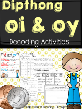 Vowel Team OI and OY Partner and Independent Activities