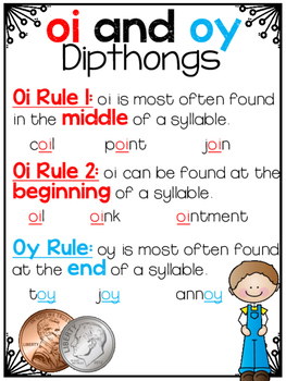 Vowel Team OI and OY Partner and Independent Activities Freebie!