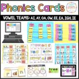 "Vowel Teams: ea, oa, ai, ow, ee, ay, igh, ie (""Hands-on"" & Digital)"