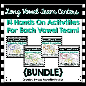 Vowel Team A, E, I, O Word Work Centers {BUNDLE}