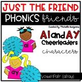 Vowel Team Pair ai/ay Craftivity, Phonics Friends Characte