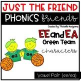 Vowel Team Pair ee/ea Craftivity, Phonics Friends Characte