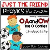 Vowel Team Pair oa/ow Craftivity, Phonics Friends Characte