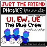 Vowel Team Pair ui,ue,ew Craftivity, Phonics Friends Chara
