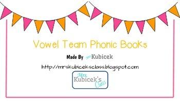 Vowel Team Phonic Books