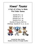 Vowel Team Phonics File Folder Games (set of 6)