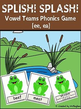 Vowel Team Phonics Game {ee, ea} - SPLISH! SPLASH!