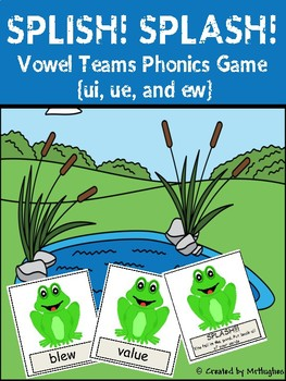 Vowel Team Phonics Game {ui, ue, ew} - SPLISH! SPLASH!