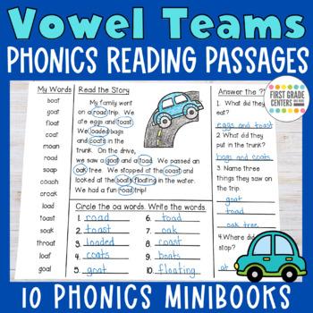 Vowel Teams Minibooks