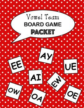 Vowel Team Practice Game Packet