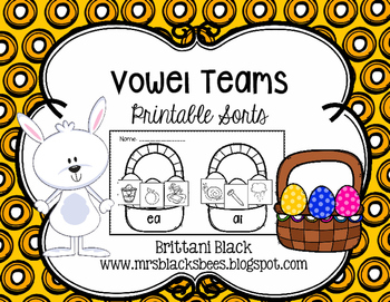 Vowel Teams~ Printable Sorts