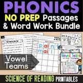 Long Vowel Teams No Prep Printables (Phonics Worksheets for Long Vowel Patterns)