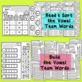long vowel teams no prep printables phonics worksheets. Black Bedroom Furniture Sets. Home Design Ideas