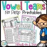Long Vowel Teams Phonics Worksheets: 1st Grade Reading Distance Learning Packet