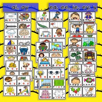 Vowel Team Word Work Puzzles (Long Vowel Pairs)