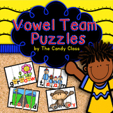 Vowel Team Word Work Puzzles for ELA Reading Centers (Long Vowel Pairs)
