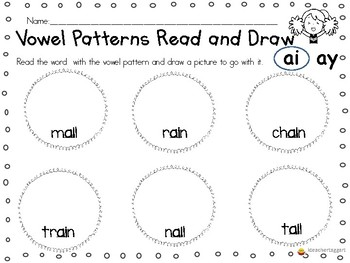 Vowel Team Read and Draw