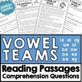 Vowel Team Reading Stories / Passages and Comprehension Questions