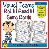 Vowel Team Roll It! Read It! Word and Sentence Game Cards