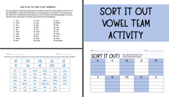 Vowel Team Sort
