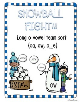 Vowel Team Sort! (Long o: oa, ow, o_e) *Winter Themed