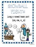 Vowel Team Sort! (Long o: oa, ow, o_e) *Winter Themed