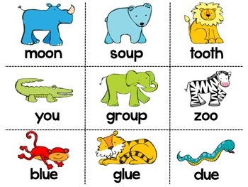 Phonics Word Sort - OO, UE, OU, EW