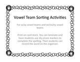 Vowel Team Sorting Activity (ai/ay and ee/ea/ey teams)