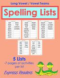 Spelling List BUNDLE - Vowel Teams, Lists 1-5