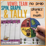 Vowel Team Phonics Spin, Graph, and Tally