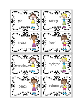 Vowel Team: Syllable Sorting
