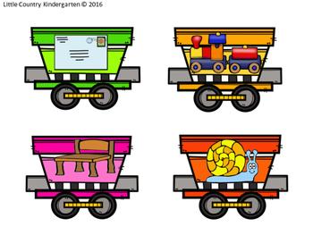 Vowel Team Train File Folders