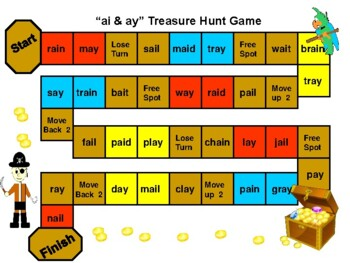 Vowel Team Treasure Chest Hunt Game