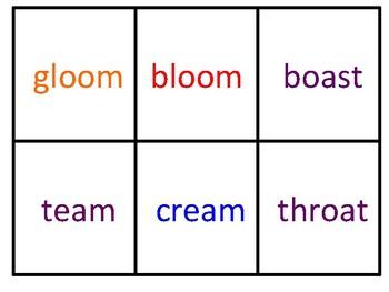 Vowel Team Uno Cards