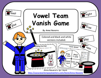 Vowel Team Vanish Game