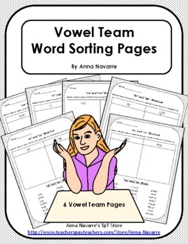 Vowel Team Word Sorting Pages