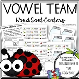 Summer Vowel Team Word Sorts!  Bug themed