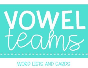 Vowel Team Wordlist Cards