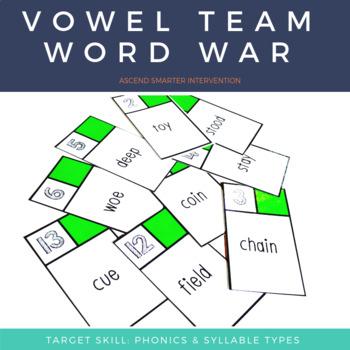 Vowel Team Words War - Orton Gillingham (Single Syllable Edition)