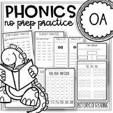 Vowel Team Worksheets for oa