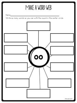 Vowel Team Worksheets for oo as in book