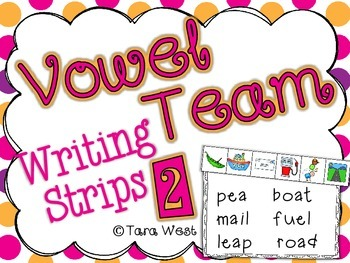 Vowel Team Writing Strips 2 {two sets}
