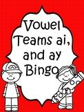 Vowel Team ai and ay Bingo