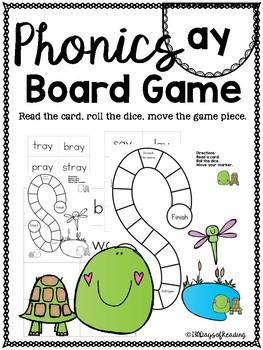 Vowel Team ay PHONICS BOARD Game